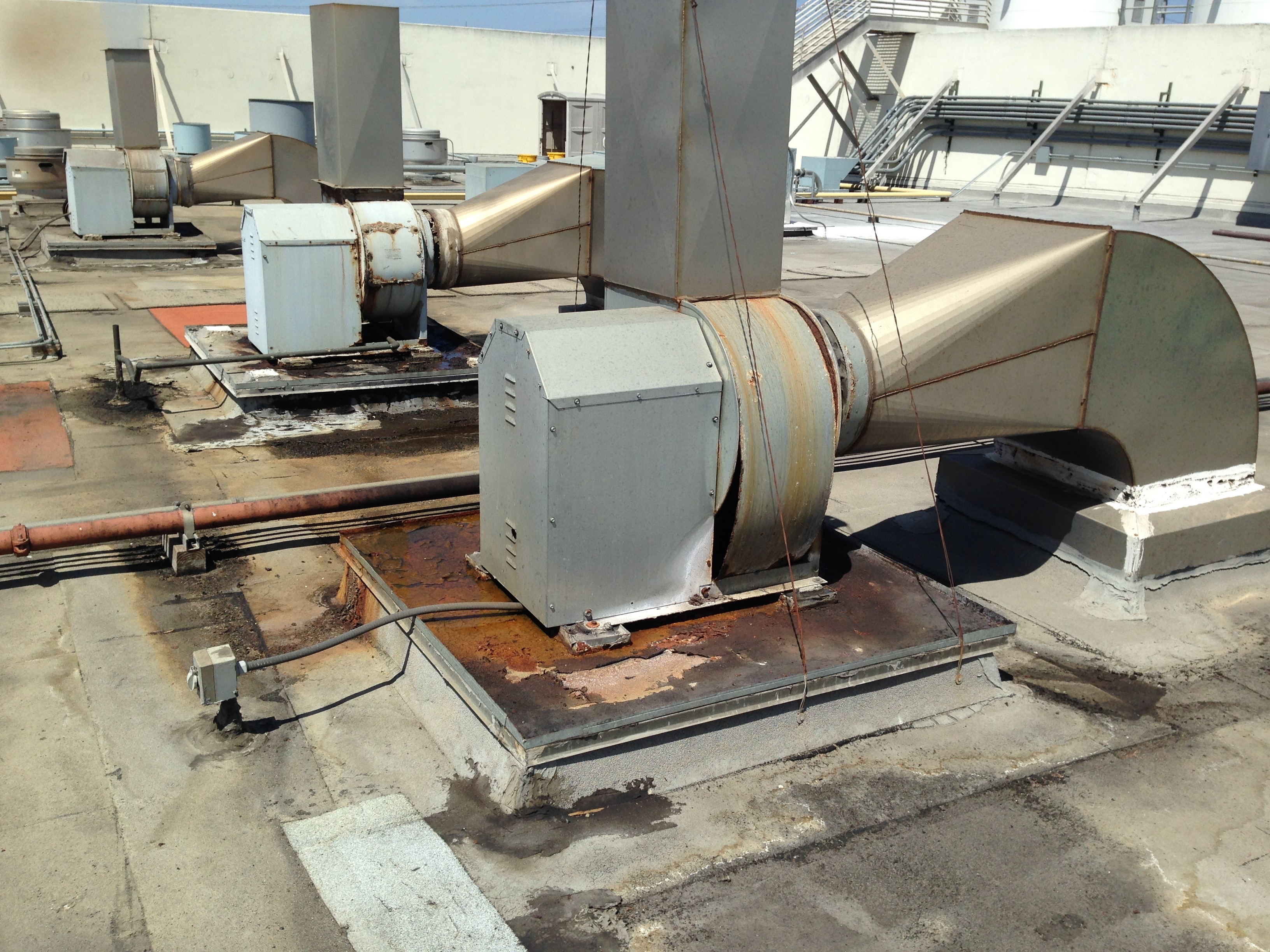Maruchin Grease Exhaust Vent Existing Emmons Roof Service